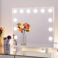 Chende Vanity Mirror Hollywood Makeup Mirror Dimmable Tabletop or Wall-mount with 12 Dimmable Bulbs