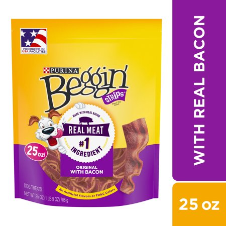 Purina Beggin' Strips Dog Training Treats; Original With Bacon - 25 oz.