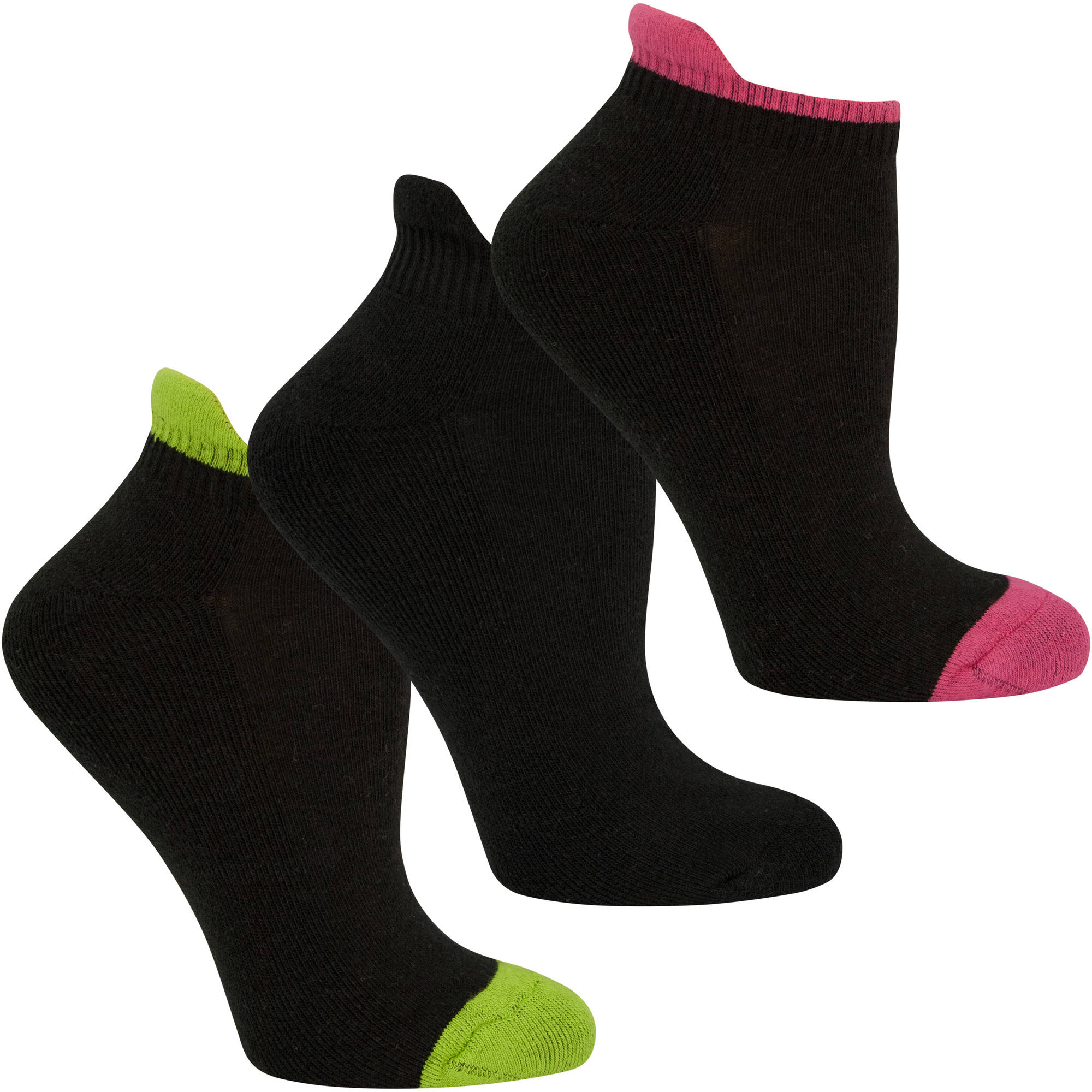 Fruit of the Loom Womens Cotton Stretch Low Cut Tab Socks - 3 Pack