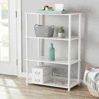 Mainstays No Tools 4 Shelf Standard Storage Bookshelf, Multiple Colors