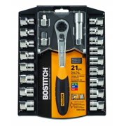 BOSTITCH BTMT72286 21-Piece 3/8-Inch Pass Thru Socket Set