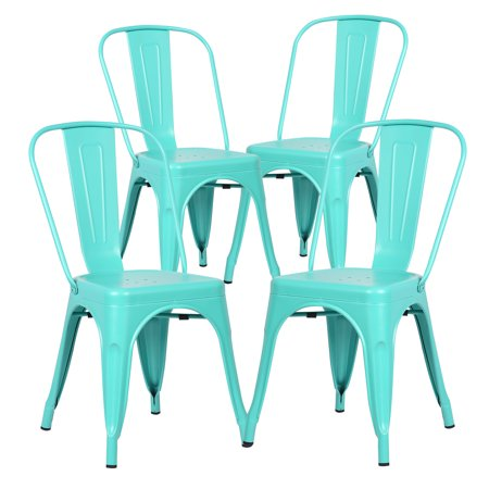 Surprising Poly And Bark Trattoria Side Chair In Aqua Set Of 4 Bralicious Painted Fabric Chair Ideas Braliciousco