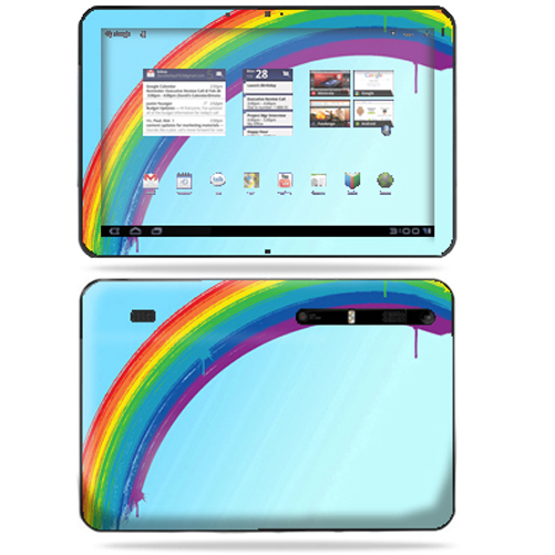 Mightyskins Protective Vinyl Skin Decal Cover for Motorola Xoom Tablet wrap sticker skins Rainbow