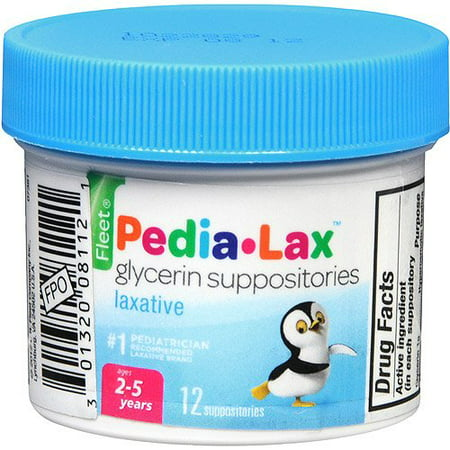 - 2 Pack - Fleet Pedia-Lax Glycerin Suppositories 12 Each