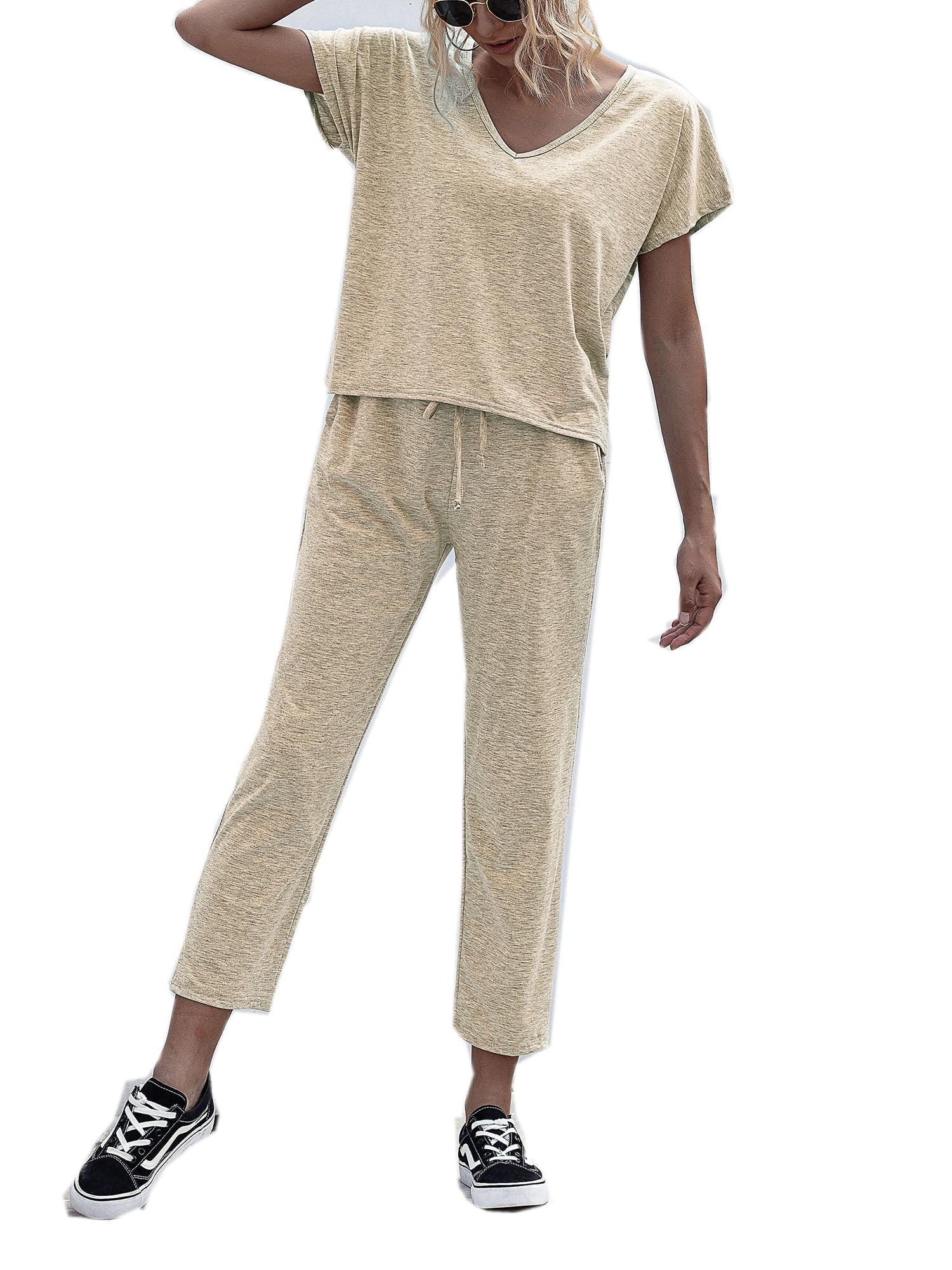 Women 2PCS Tracksuits Set Loungewear Ladies Hoodies Top Pants Lounge Wear Suit