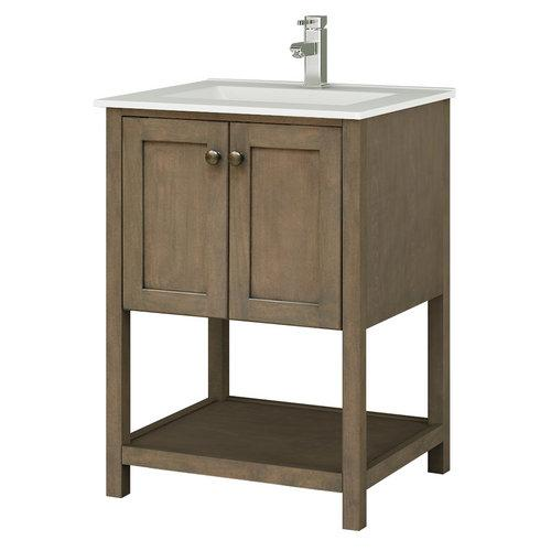Sunny Wood  AN2421  Vanity Cabinet  Aiden  Fixture  Wood  ;Taupe