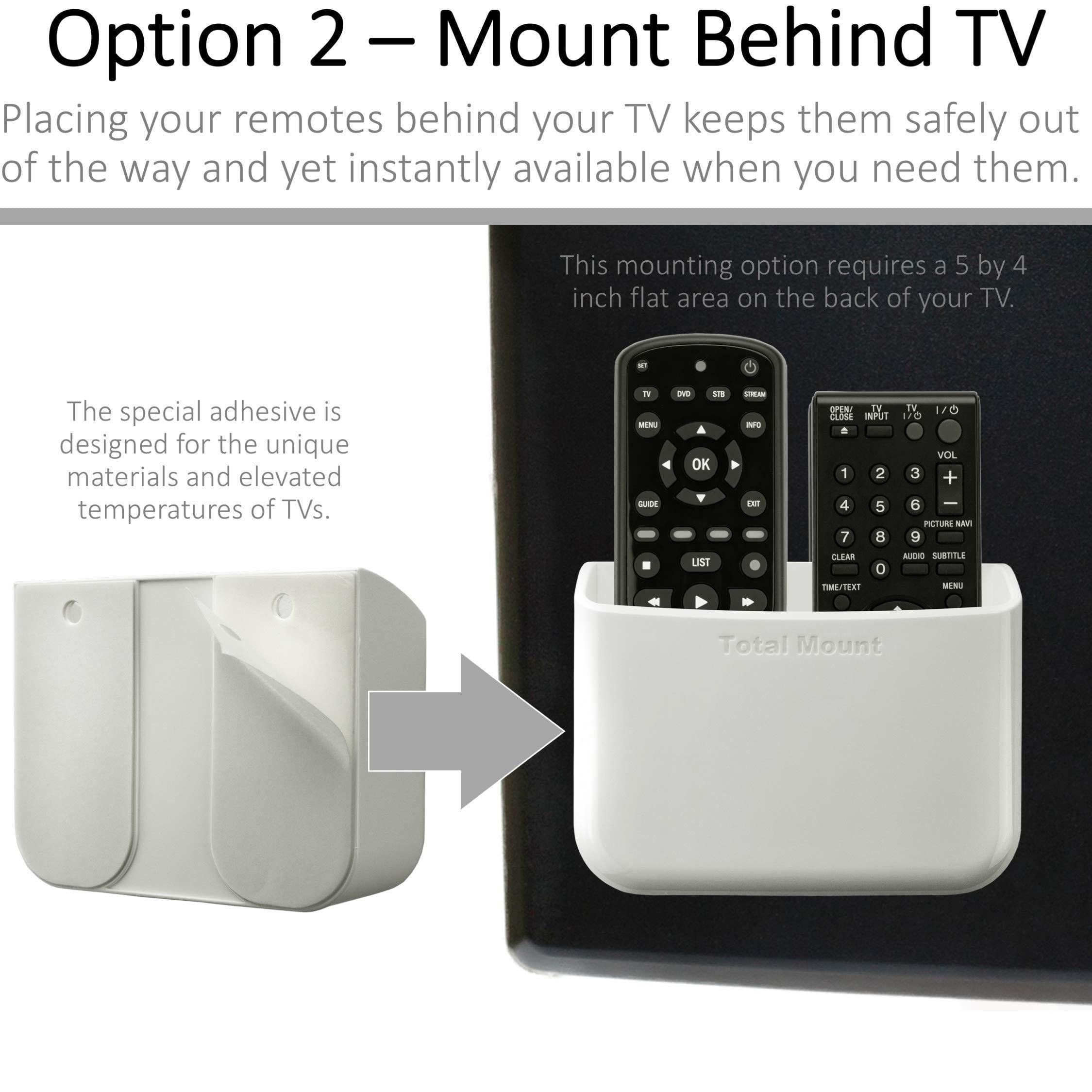 TotalMount Universal Remote Holders Quantity 2 - One Remote per Holder - White