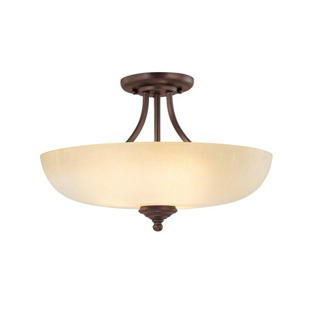 Capital Lighting Chapman Burnished Bronze 3 Light Semi Flush Fixture (Chapman Piper)