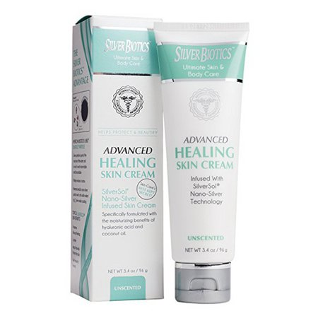 American Biotech Labs Silver Biotics Advanced Healing Skin Cream For Rough and Dry Skin, 3.4 Oz (Bath And Body Lab)