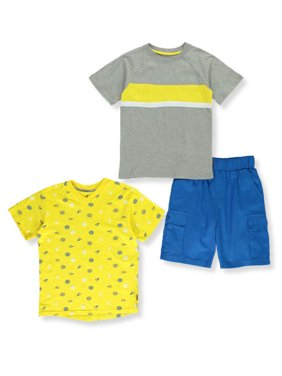 Beverly Hills Polo Club Boys Short Sleeve T-Shirts & Cargo Shorts, 3-Piece Outfit Set, Sizes 4-12
