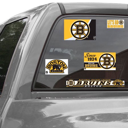 Boston bruins wincraft set of five reusable cling ultra car decals no size