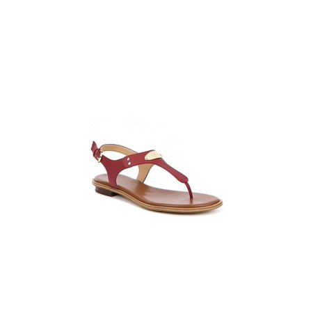 Michael Kors Womens MK PLATE THONG Leather Open Toe Casual T-Strap