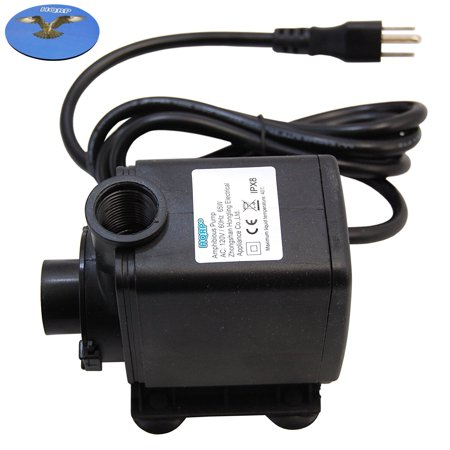 High Volume Water Pump - HQRP High Power 3500L/H 925GPH 65W Submersible Water Pump for Fountains / Pond / Statuary / Aquarium / Tanks / Spout and Hydroponic Systems plus HQRP UV Meter