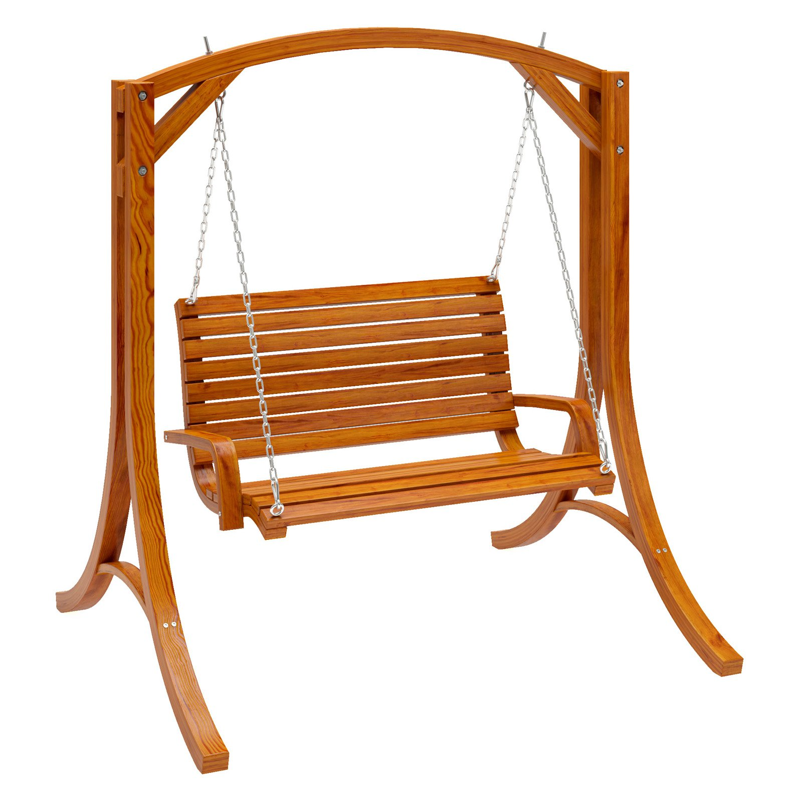 CorLiving Wood Canyon Cinnamon Brown Stained Patio Swing by CorLiving