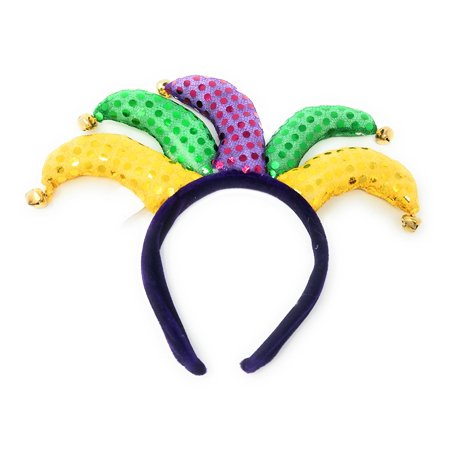 Jester Costume Accessories (Mardi Gras Jester Headband Party Supplies - 11.75