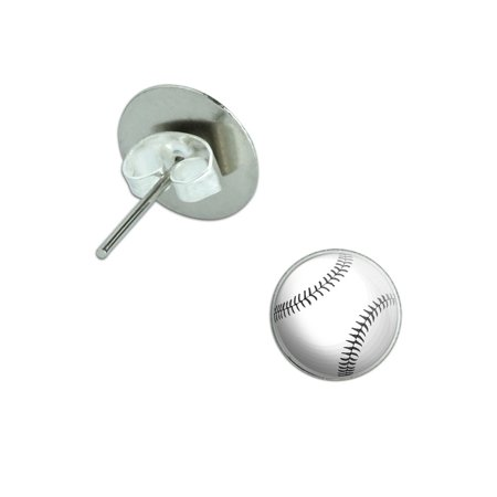 Baseball Pierced Stud Earrings
