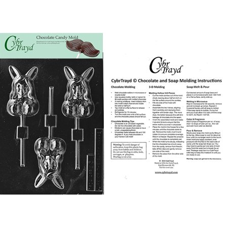 Nude Bunny Lolly Adult Chocolate Candy Mold With Exclusive Copyrighted Cybrtrayd Instructions - Nude Adult