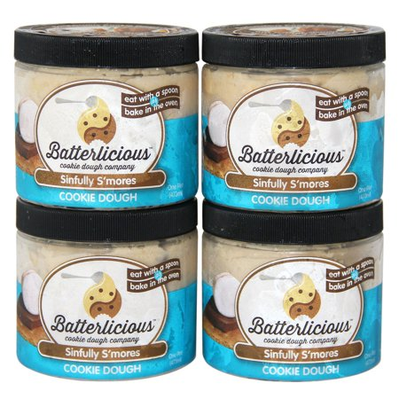 Product of Batterlicious Edible Cookie Dough, Sinfully S'mores (1 pint jar, 4 ct.) - Cookies [Bulk Savings] ()