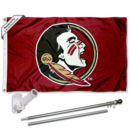 FSU Seminoles New Logo 3x5 Flag and Accessory - Fsu Decor