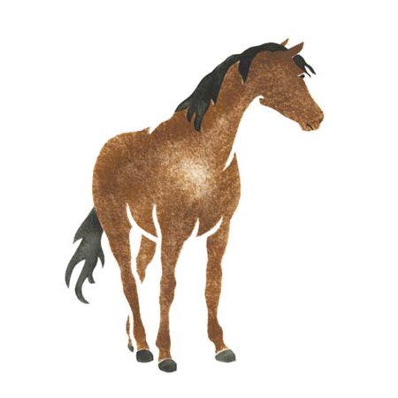 Single Horse Wall Stencil SKU #1176 by Designer Stencils