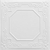 Topkapi Palace 1.6 ft. x 1.6 ft. Foam Glue-up Ceiling Tile in Plain White (21.6 sq. ft. / case)