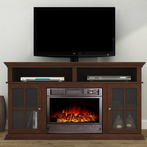 A&J Homes Studio Ares Alessandro 62'' TV Stand with Fireplace