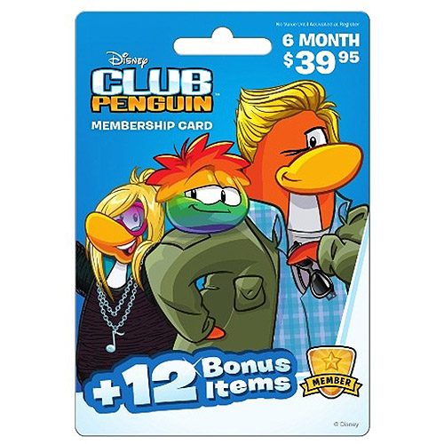 Interactive Commicat Disney Club Penguin 6 Month $39.95