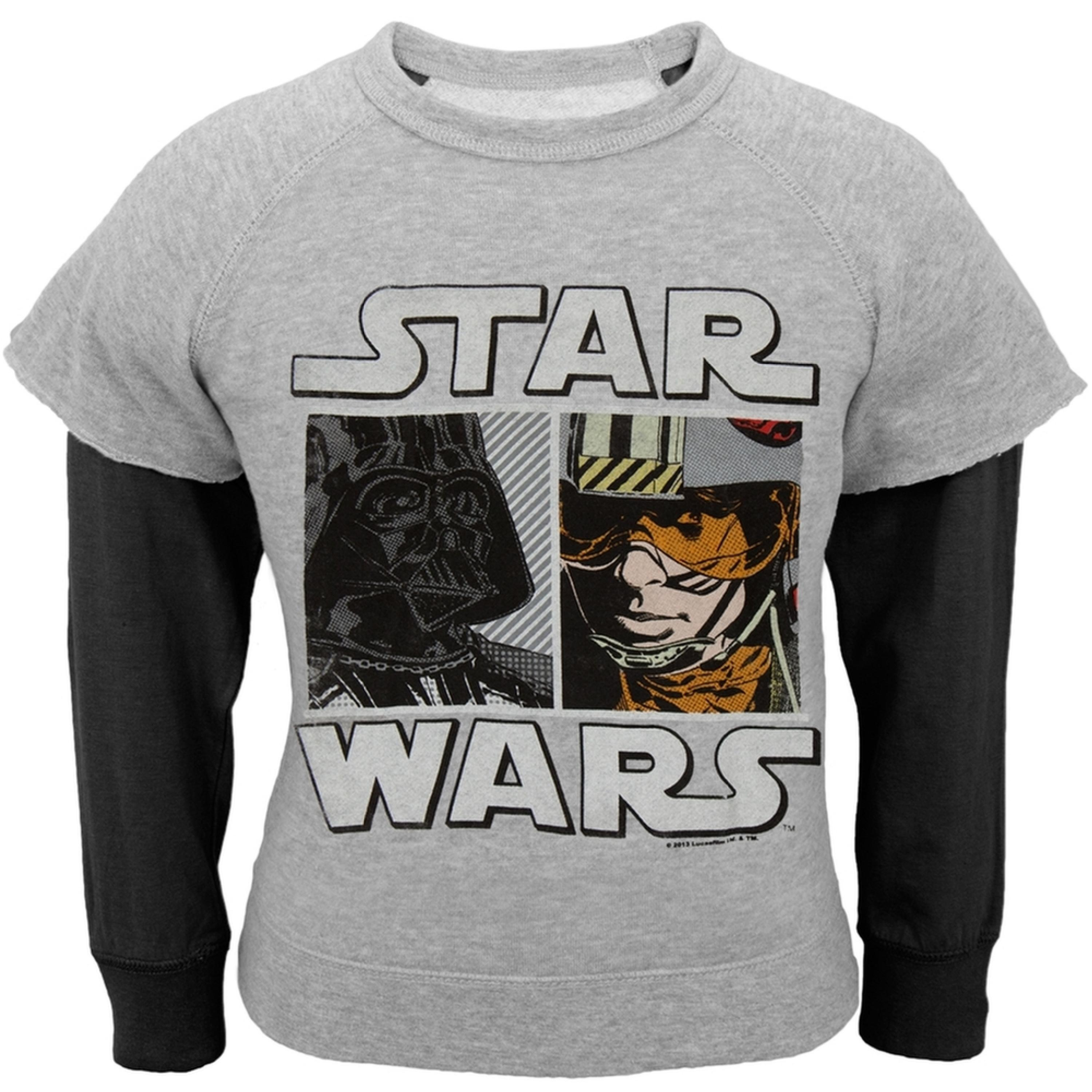Star Wars - Faces University Juvy Reversible Crewneck Sweatshirt