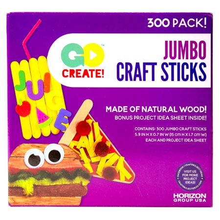 Go Create Jumbo Craft Sticks, 300 - Halloween Decorations Made Out Of Popsicle Sticks