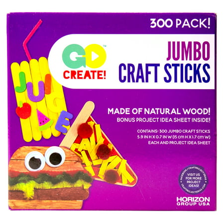 Halloween Arts And Crafts Popsicle Sticks (Go Create™ Jumbo Craft Sticks, 300)