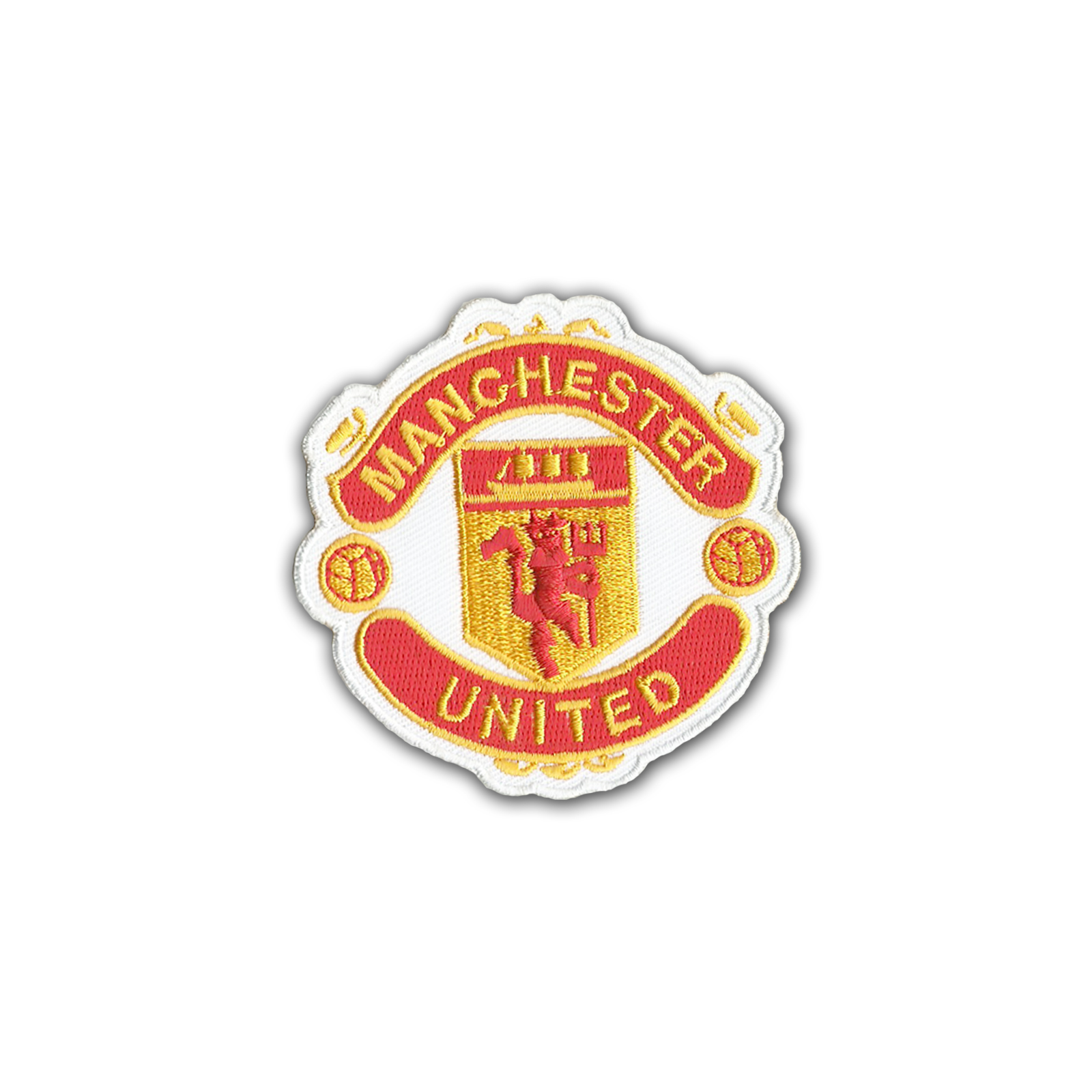 "MANCHESTER UNITED MUFC MAN U Embroidered Sew On iron Embroidered Patch 3"" Logo Sew Ironed On Badge Embroidery Applique Patch"