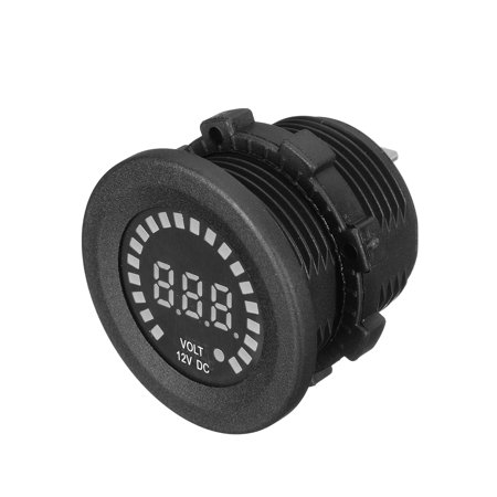 - 12V Car Motorcycle LED Voltmeter motorcycle accessorie Voltage Meter Panel Digital Display Volt Tester
