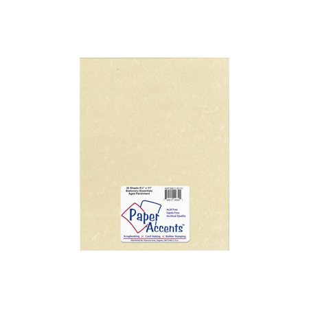 - Lite Stock 8.5x11 60lb Text 20pc Parchment Aged