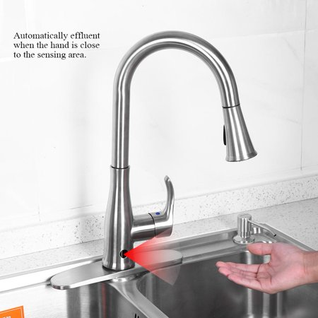 Walfront 9 16 Single Handle Touch Kitchen Sink Faucet With Pull Down Sprayer With Holder Single Handle Faucet Kitchen Sink Faucet