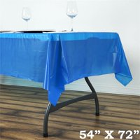 "BalsaCircle 54"" x 72"" Rectangular Disposable Plastic Tablecloth Table Cover - Party Picnic Table Covers Decorations"