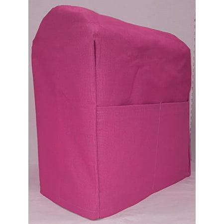 Canvas Kitchenaid Stand Mixer Cover (15 Colors Available) (4.5,5,6qt Lift Bowl, Hot Pink) (Kitchen Aid Lift Mixer Cover)