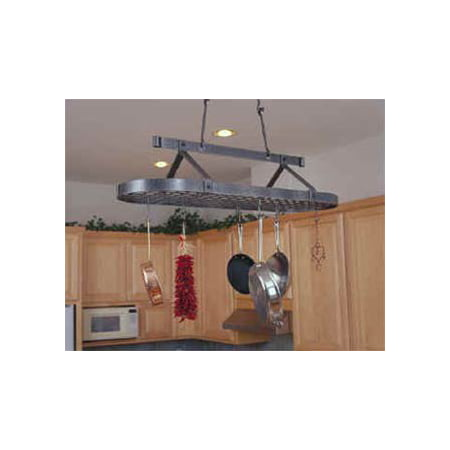 Low Ceiling Oval Pot Rack - Premier Low Ceiling Oval Pot Rack
