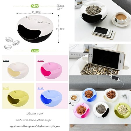- Creative Lazy Fruit Plate Double Layer Plastic Candy Seeds Peel Dish Storage