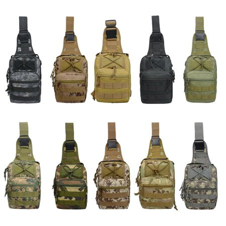 Smartasin Sling Bag for Man, One Shoulder Sling Backpack Army Durable Military Nylon Bag -