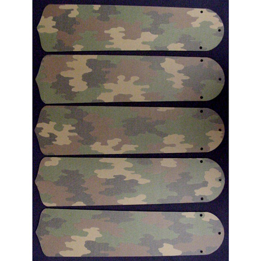 Ceiling Fan Designers Desert Camouflage Custom Designer 5...