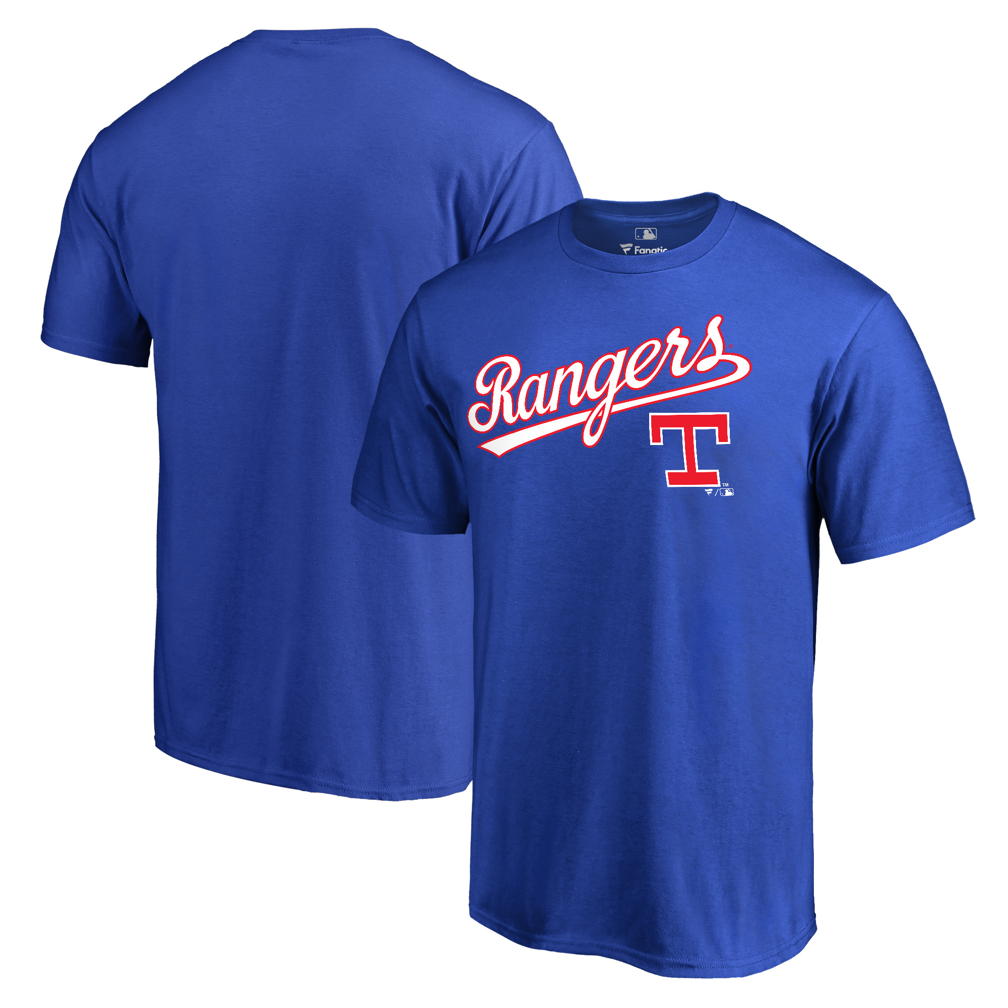 Texas Rangers Fanatics Branded Cooperstown Collection Wahconah T-Shirt - Royal