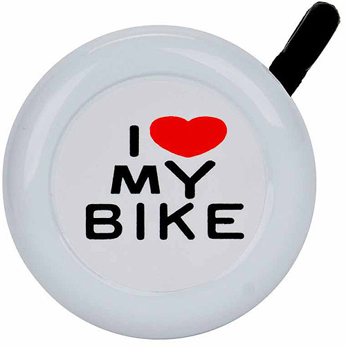 I Love My Bike Bicycle Bell, Multiple Colors