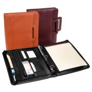 Zip Around Binder Portfolio - Ultra Bonded Leather