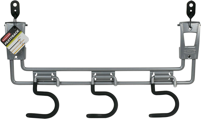 FastTrack Garage Storage System Sliding Triple Hook, 1815987, Flared Design  For One Handed Operation