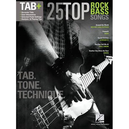 25 Top Rock Bass Songs : Tab. Tone. Technique.
