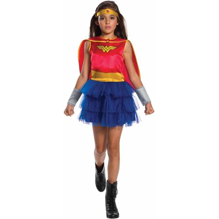 Classic Wonder Woman Child's Costume, Medium (8-10) - Child's Wonder Woman Costume