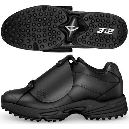 Umpire Base Shoes - 3N2 7345-0101-95 Mens Reaction Umpire Plate, Black - 9. 5