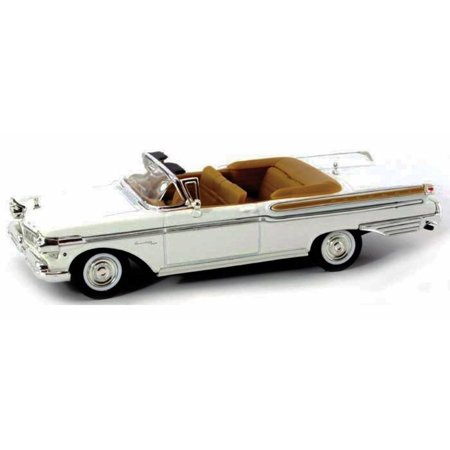 59 Mercury Country Cruiser (1957 Mercury Turnpike Cruiser Convertible, White - Yatming 94253 - 1/43 Scale Diecast Model Toy Car )