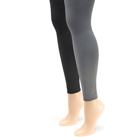 Women's Fleece Lined 2-Pair Pack Footless Tights](Footless Tights Target)