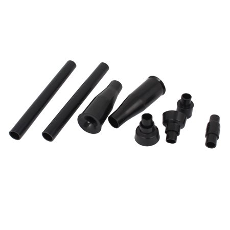 Garden Pond Plastic 4 Style Waterfall Nozzle Fountain Head Accessory Black Set